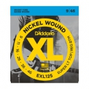 Daddario EXL125 Nickel Wound Super Light Top/ Regular Bottom 9-46
